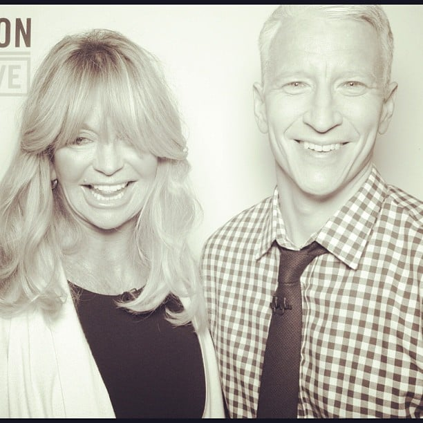 Anderson Cooper took photo-booth pictures with Goldie Hawn. Source: Instagram user andersoncooper