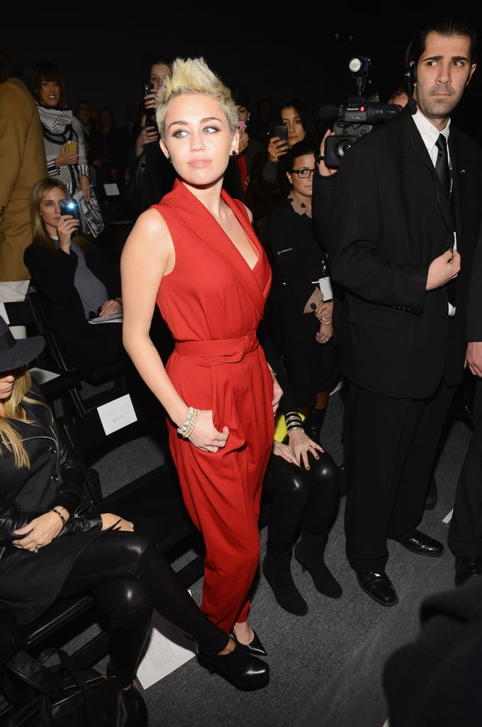 Miley Cyrus took a front-row seat for the Rachel Zoe show on Wednesday.
