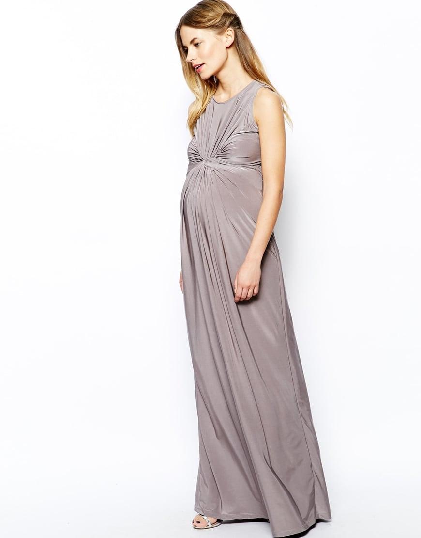 Isabella Oliver Sleeveless Gathered Front Maxi Dress