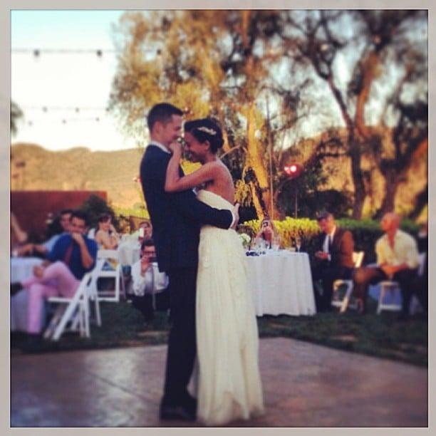 Damien Fahey danced with his bride, Grasie Mercedes, during their nuptials. Source: Instagram user damienfahey