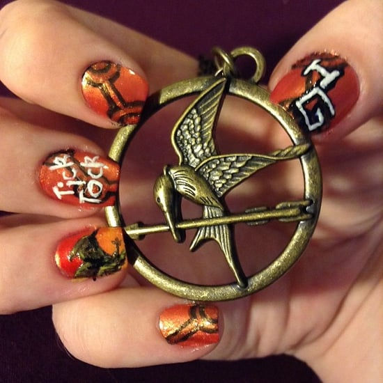 Hunger Games Catching Fire Nail Art