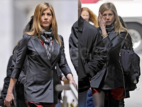 Photos of Jennifer Aniston Drinking Starbucks on the Set of The Baster in NYC