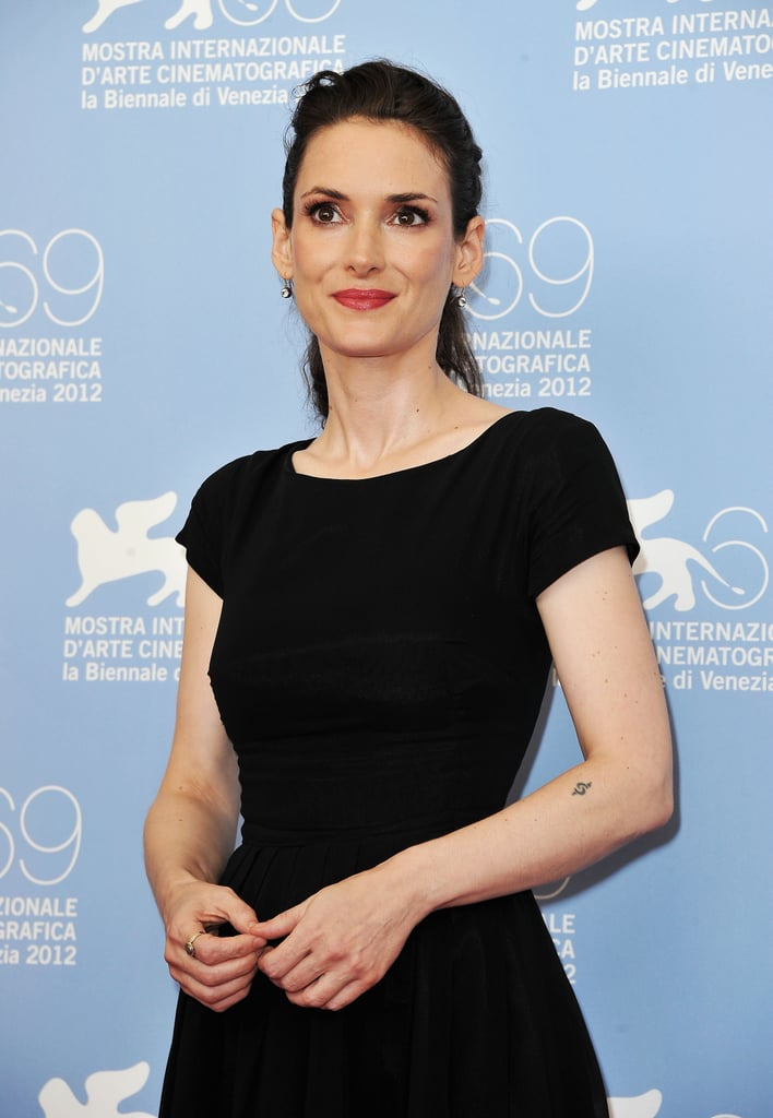 Winona Ryder smiled for the cameras at the Venice Film Festival.