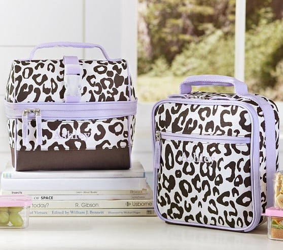 Pottery Barn Kids MacKenzie Lavender Cheetah Lunch Bags