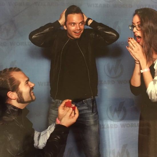 Couple Gets Engaged in Front of Sebastian Stan