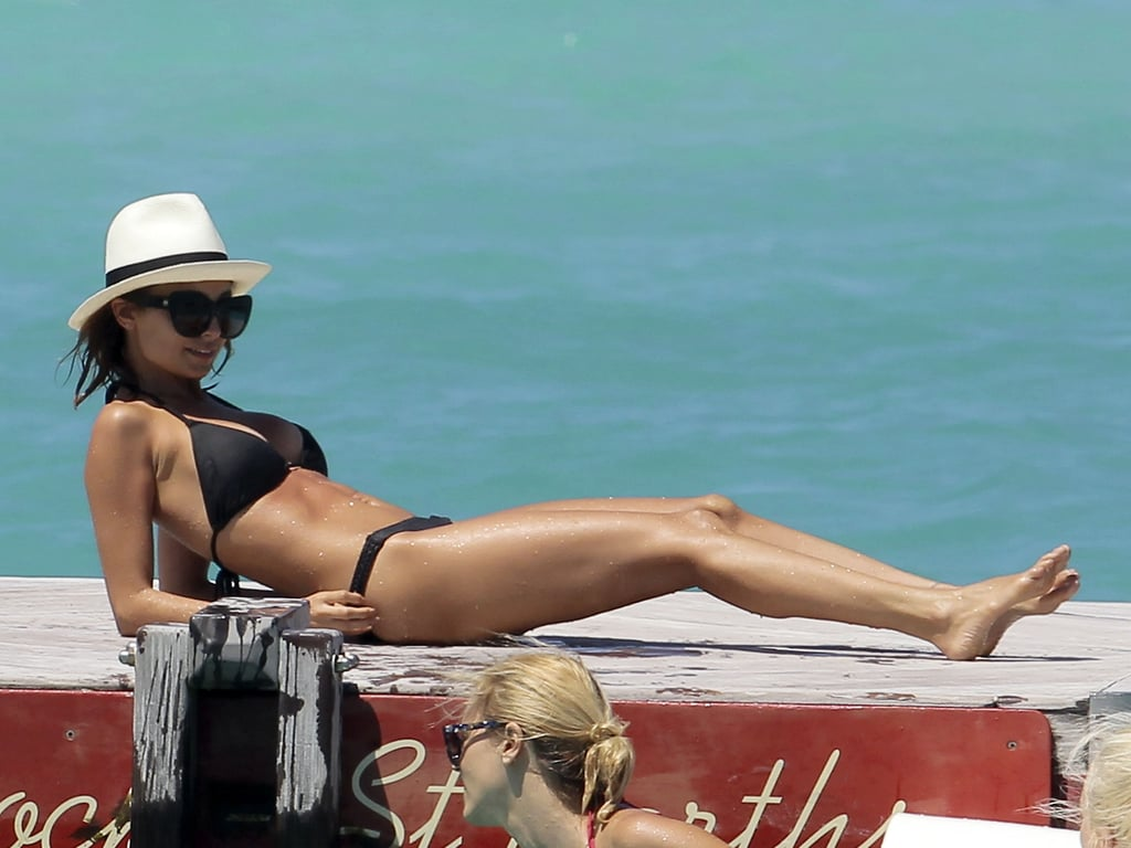 Nicole Richie put her impressive bikini body on display when she hit up St. Barts in April.