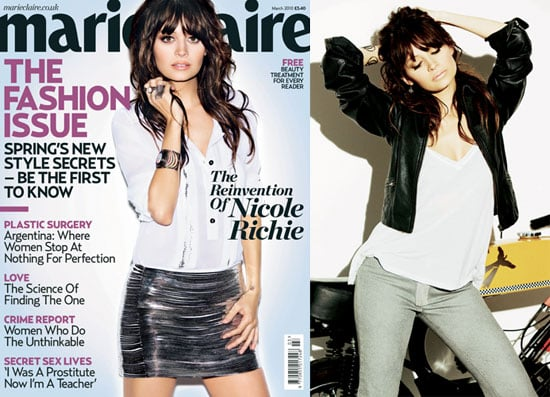Photos and Quotes From Nicole Richie in Marie Claire UK 2010-01-29 10:00:00