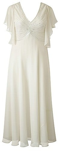 Beaded Angel Sleeve Wedding Dress