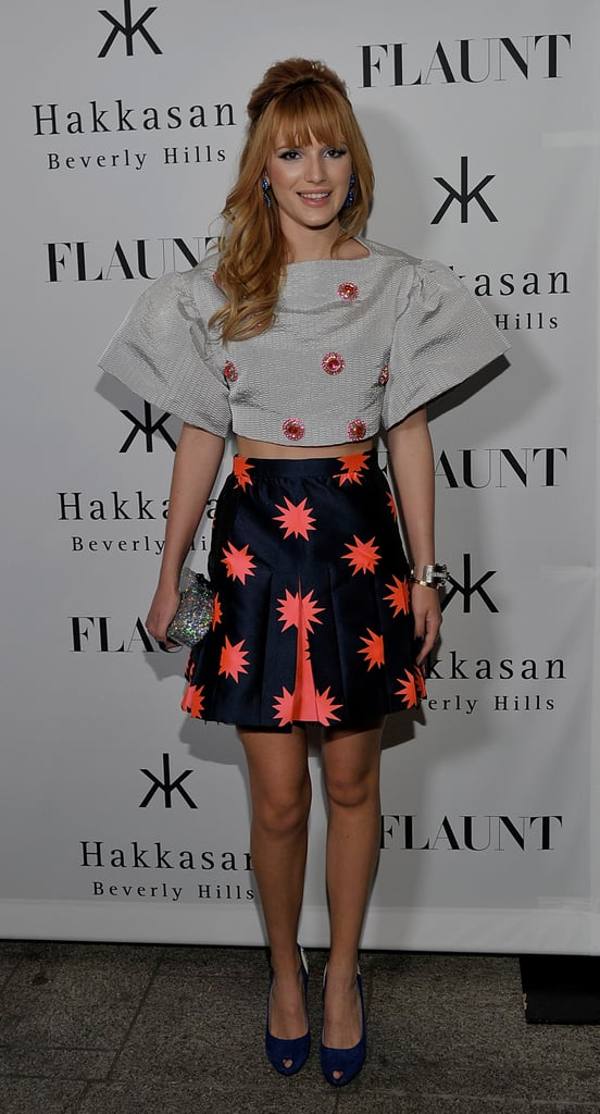 Bella Thorne hit the red carpet at the Flaunt magazine issue launch party.