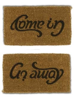 """Product Of The Day: Mixed Messages """"Welcome"""" Mat"""
