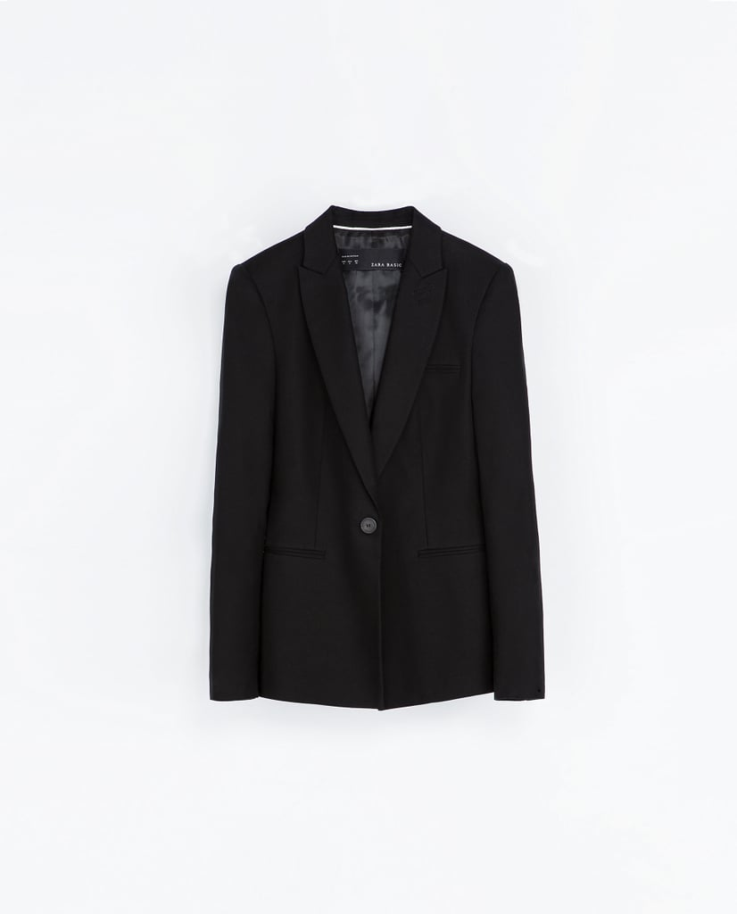 You can check a classic blazer off your list once you buy this Zara blazer with piping on pockets ($50).
