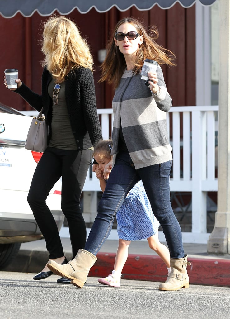 Jennifer Garner was out with her middle daughter Seraphina in LA.