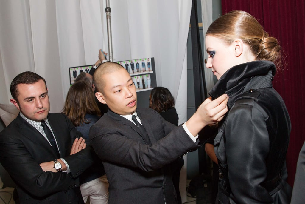 Jason Wu worked on the finishing touches before sending models out on the runway.