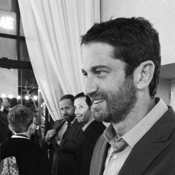 On Friday night, we caught up with Gerard Butler at the People/Time magazine party.