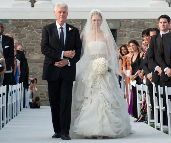 Slide Picture of Bill Clinton Walking Chelsea Clinton Down the Aisle in NYC