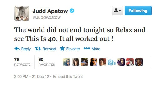 Judd Apatow really wants us to see his new movie, This Is 40.