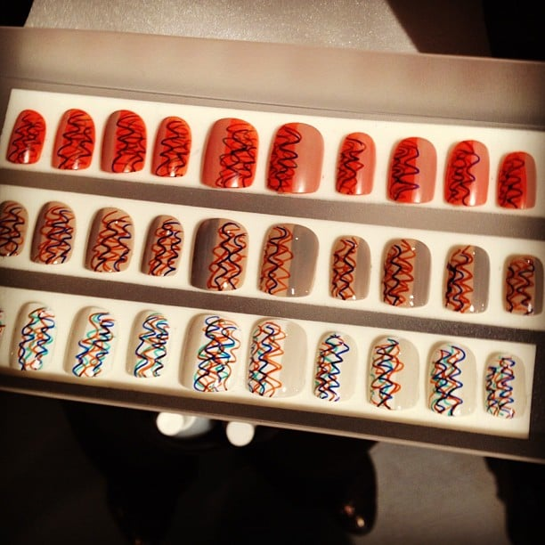 The nails at Creatures of the Wind were inspired by urban graffiti in the '80s.