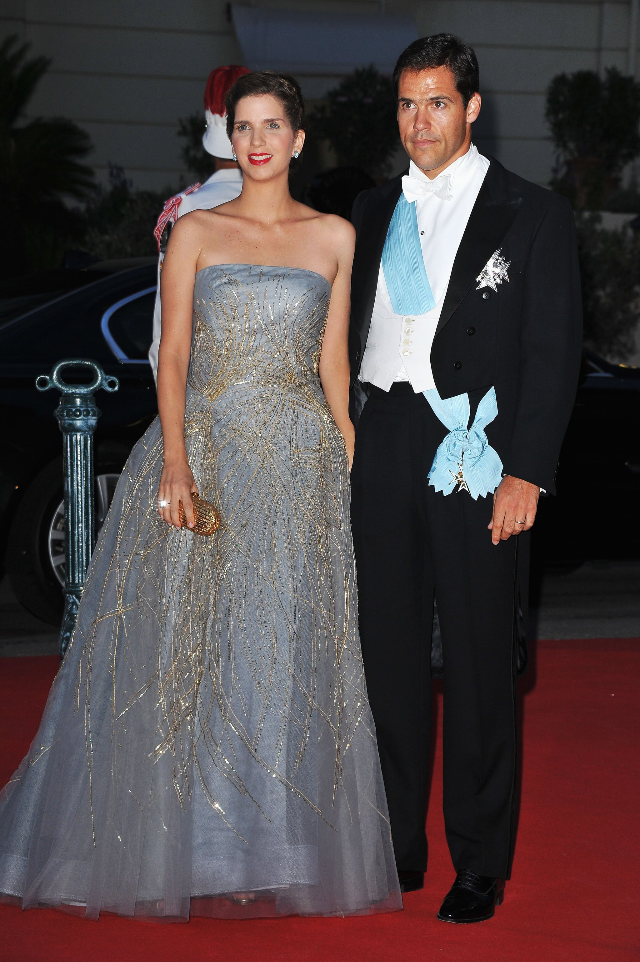 Maria Margarita and Louis de Bourbon attended a dinner at Opera terraces after the religious wedding ceremony of Prince Albert II of Monaco and Princess Charlene of Monaco.