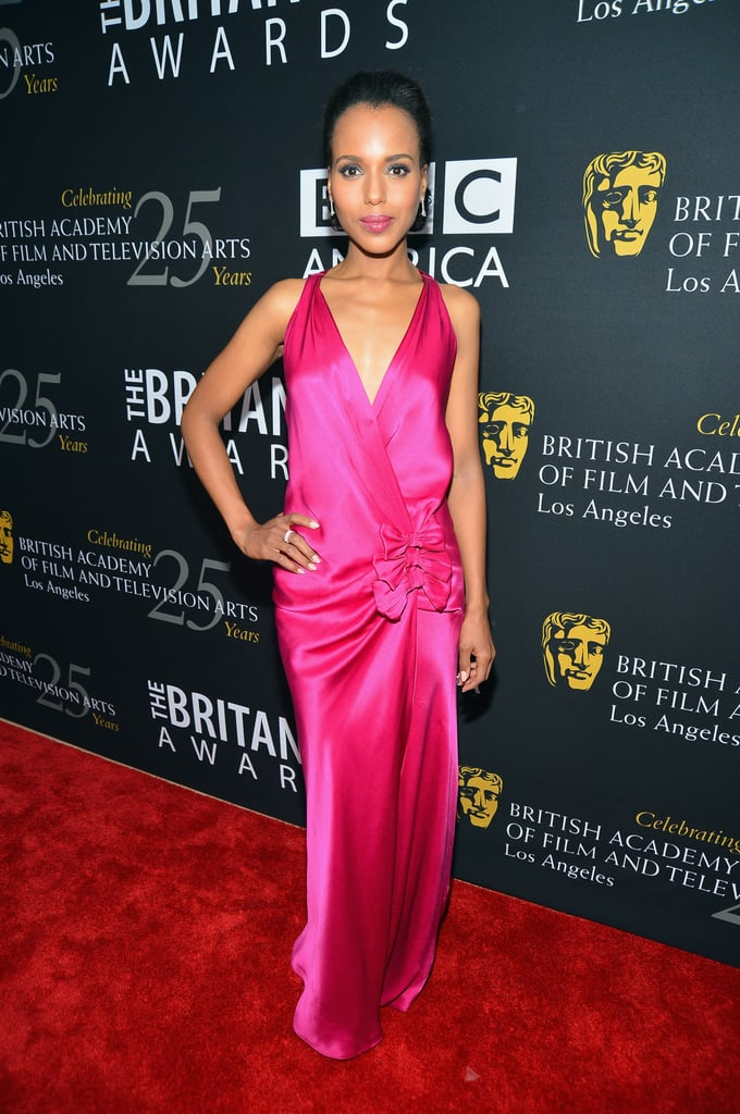 Kerry Washington posed in a stunning pink gown.