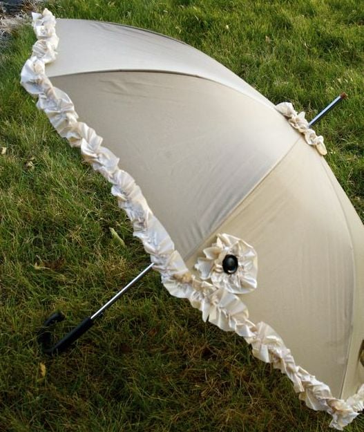 Umbrella With Ruffles