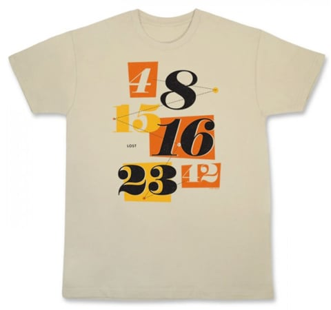 """Lost """"Numbers"""" Men's T-Shirt (approx $25)"""