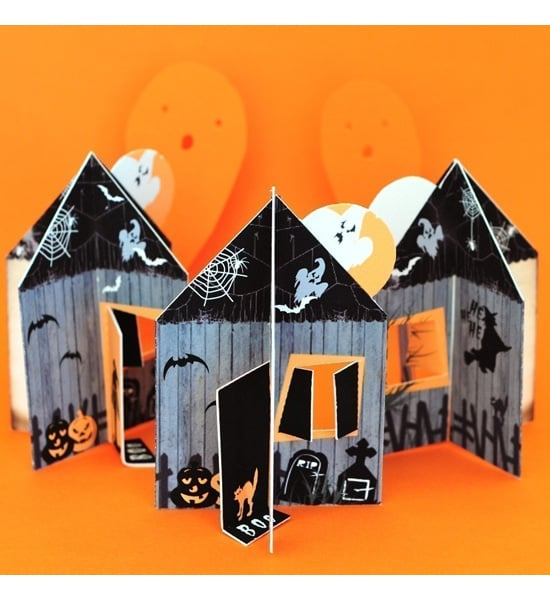 Haunted House Cards