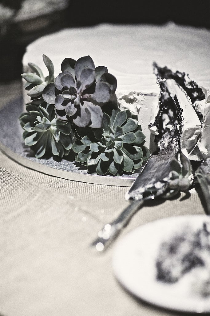 Basic cakes are anything but boring when they are decorated with lovely succulents like these.