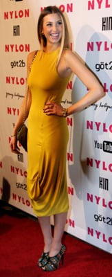 Whitney Port in Yellow Dress at Nylon Party