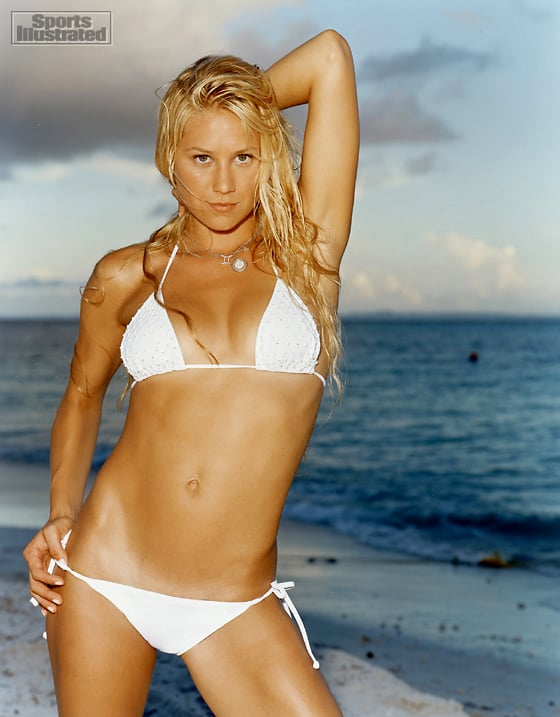 Anna Kournikova made a splash on the pages of Sports Illustrated in 2004.  Source:Tiziano Magni/Sports Illustrated