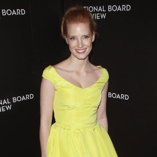Jessica Chastain Yellow Oscar de la Renta Dress