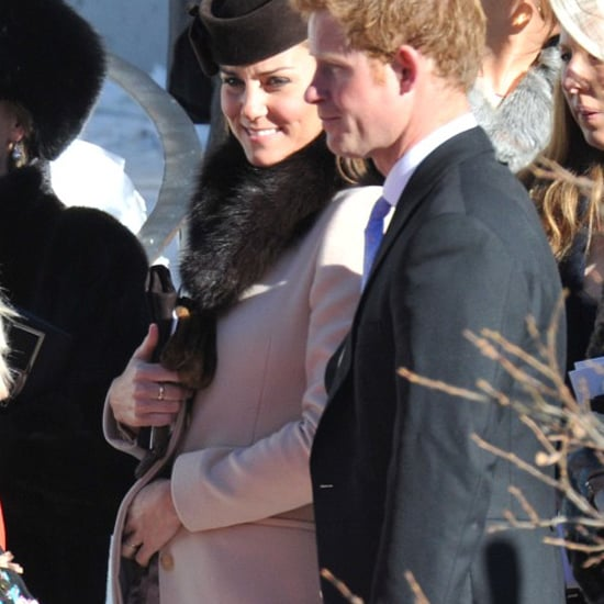 Pregnant Kate Middleton in Swiss Alps (Video)
