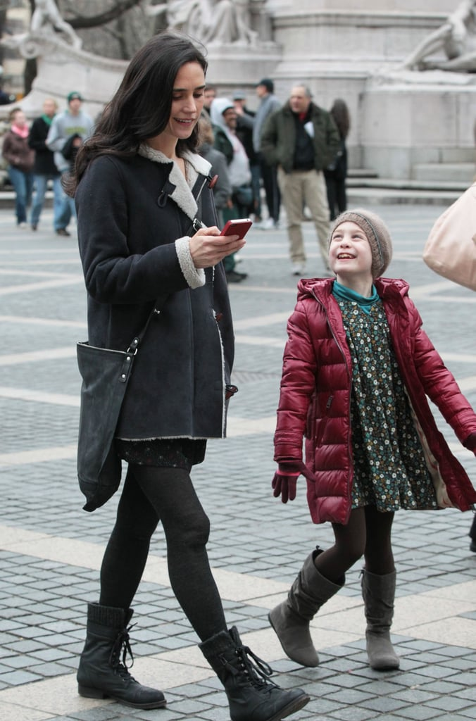 Jennifer Connelly and her child costar talked while filming.