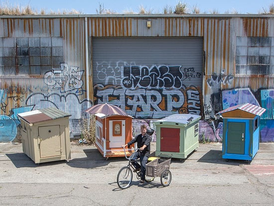 California Man Builds Portable Shelters on Wheels for Oakland's Homeless: 'I Wish That I Could Help Them All'