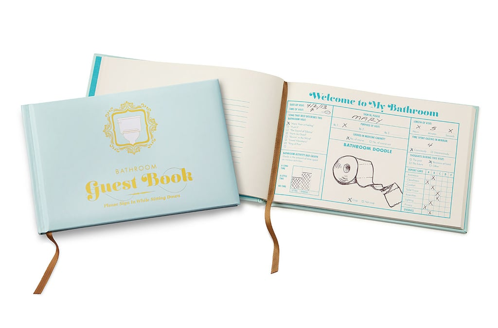 Cheap white elephant gifts popsugar smart living for Bathroom guest book