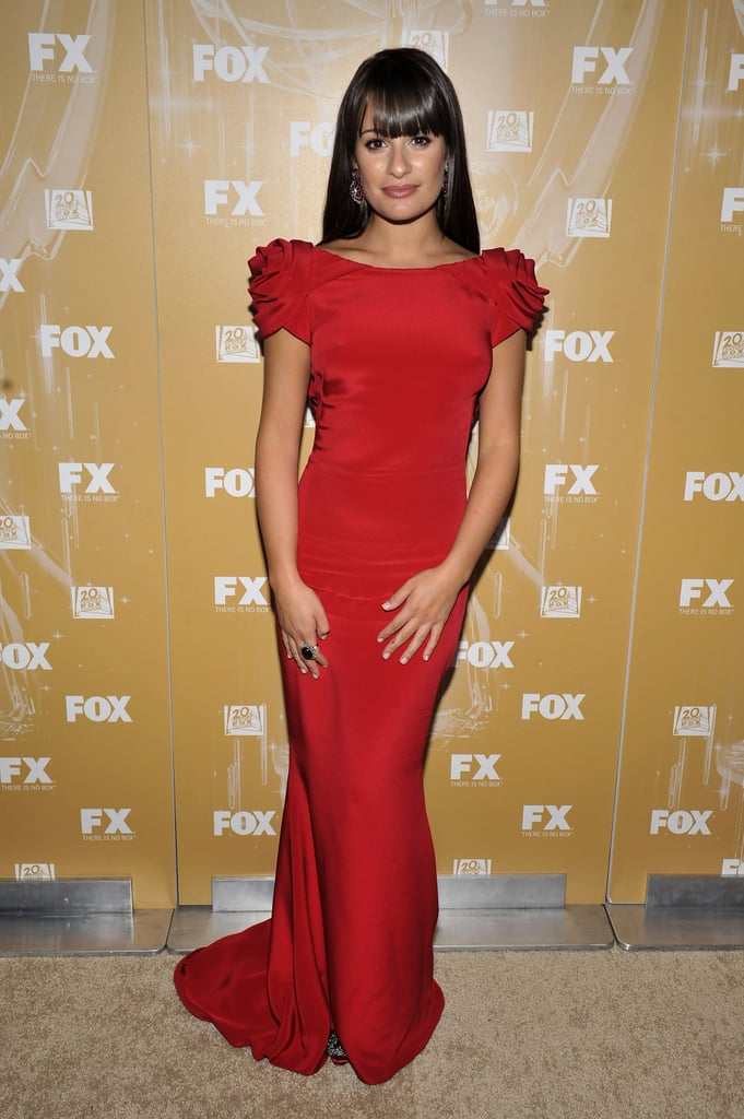 Lea Michele at the 2011 Fox Emmys bash.