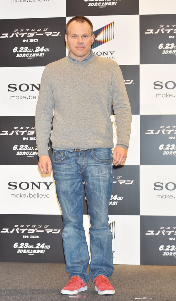 Mark Webb took the stage in red sneakers at the press conference for The Amazing Spider-Man in Japan.