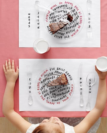 Create Kid-Friendly Placemats