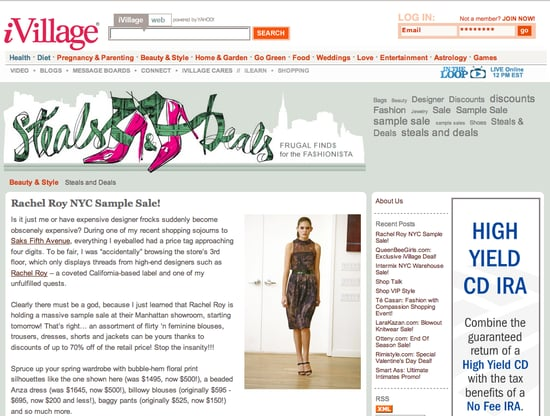 Fab Site: Steals & Deals on iVillage