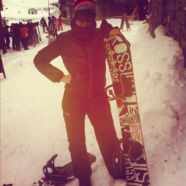 Doutzen Kroes hit the slopes. Source: Instagram user doutzenkroes1