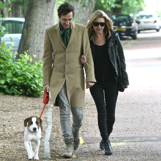 Kate Moss Ditches Heels, Wears Flats to Walk Her Dog