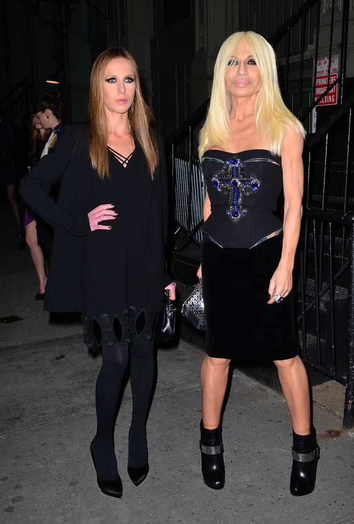 Allegra Versace and Donatella Versace