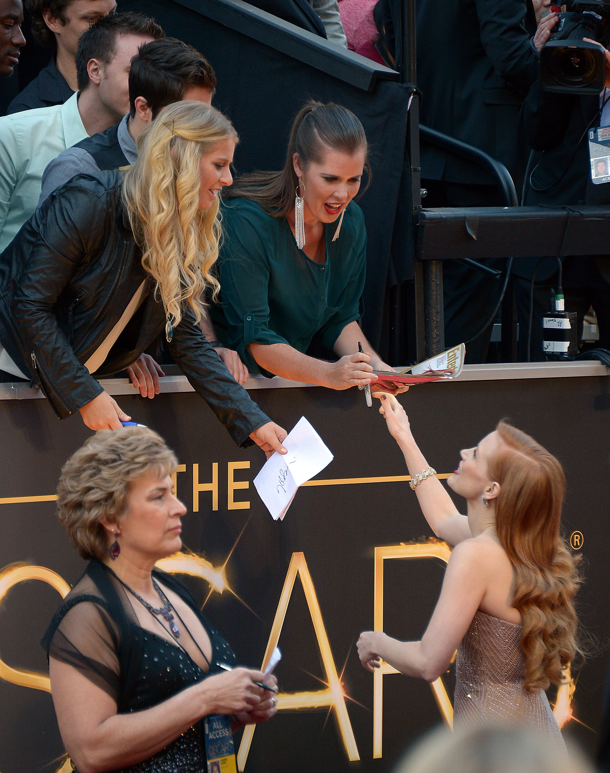 Jessica Chastain made time for fans.