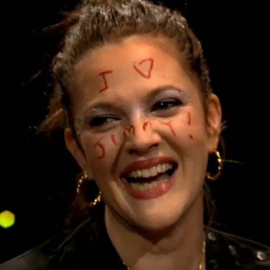 Drew Barrymore Makeup on Jimmy Fallon