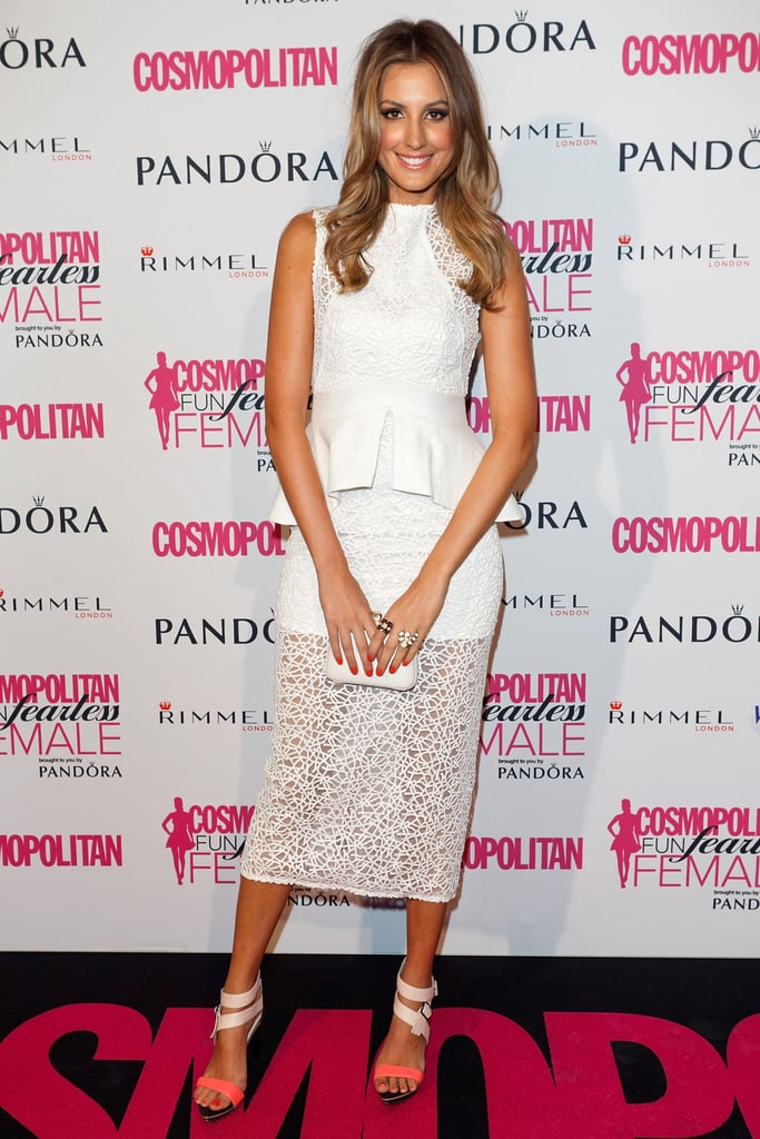Laura Dundovic was all right on the night in her white Manning Cartell dress and PeepToe clutch. We're diggin' on the sexy sheer panel below the knee and the tiny touch of on-trend neon.