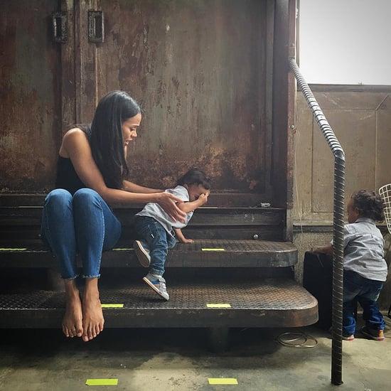 Zoe Saldana With Her Sons on Instagram June 2016