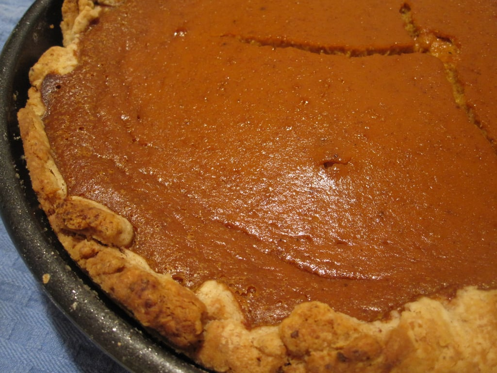 Old-Fashioned Pumpkin Pie With Pecan Pastry Crust