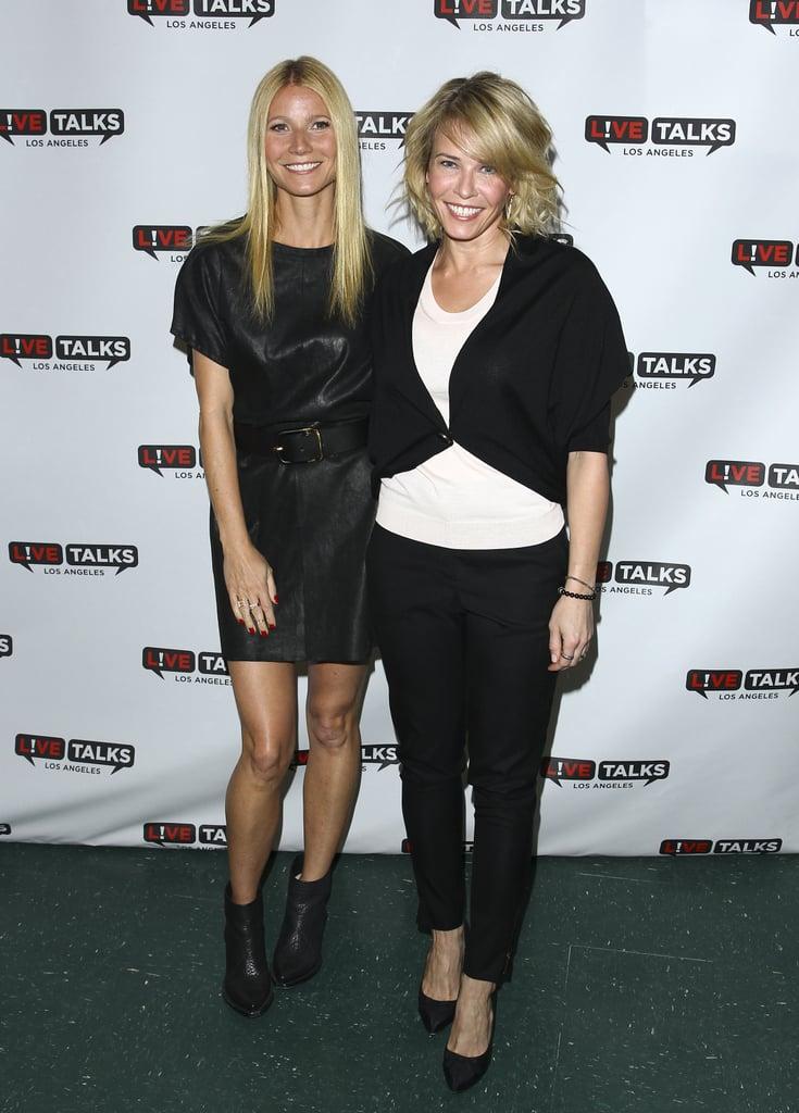 Gwyneth Paltrow and Chelsea Handler