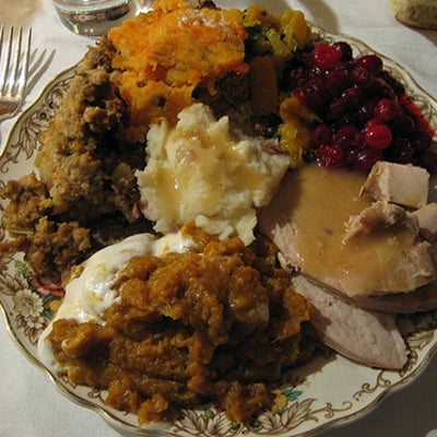 Example of Healthy Thanksgiving Plate