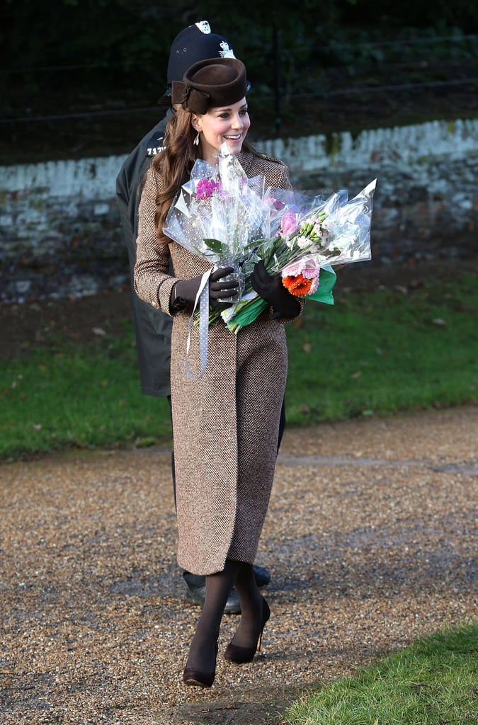 Kate Middleton During Christmas at Sandringham in 2014