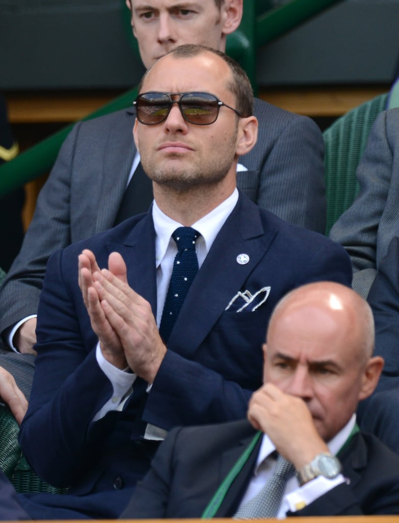 Jude Law took in the Wimbledon Championships in London on Friday.